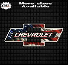 Chevy Bowtie Waving American Flag Vinyl Decal Sticker Chevy Truck Decals Country Boy Customs Store