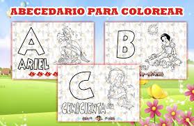 Abecedario Disney Para Imprimir Y Colorear Mega Idea