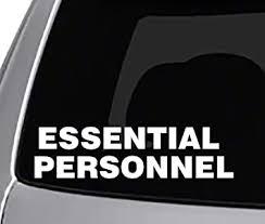 Amazon Com Seek Essential Personnel Decal Car Truck Window Laptop Toolbox Sticker Funny Joke Adult Illness 2020 Automotive