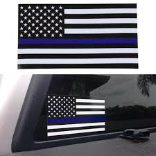 2pcs Thin Blue Line American Flag Car Decal Sticker Police Officer Auto Bike Ebay