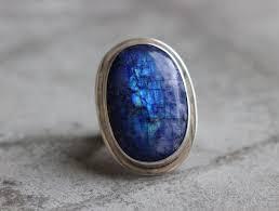 statement rainbow moonstone ring
