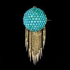 antique victorian etruscan turquoise