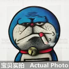 cm doraemon smoking funny cartoon colorful car stickers