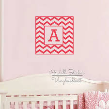 Chevron Name Wall Sticker Chevron Initial Letter Wall Decal Kids Room Decors Cut Vinyl Stickers Personalized Children Name C68 Child Names Name Wall Stickerswall Sticker Aliexpress