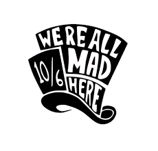We Re All Mad Here Decal Alice In Wonderland Decal Mad Etsy Alice In Wonderland Silhouette Vans Stickers Were All Mad Here