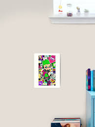 Splatoon 2 Inkling Boy Art Print By Assassinhedgie Redbubble