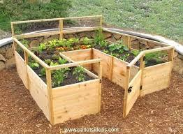 wood pallet vegetable garden i like the
