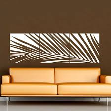 Huge White Palm Tree Wall Decal Vinyl Sticker Custom Any Colour Big Leaves Wall Art Mural Wall Decal Banne Tree Wall Decal Vinyl Wall Decals Mural Wall Art