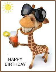 Giraffe birthday (With images) | Giraffe birthday, Funny happy ...