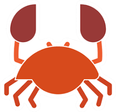 Angry Funny Crab Vinyl Decals Stickers Car Stickers