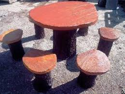 concrete garden furniture rustique