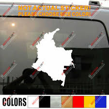 Flag And Map Of Colombia Colombian Car Decal Sticker Ebay