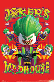 Lego Batman Madhouse Poster Contemporary Kids Wall Decor By Trends International