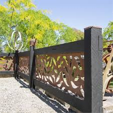 Tuscan Path 1800 X 900mm Rust Leaf Screen Panel Bunnings Warehouse