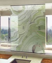 sandblasted shower glass in endless awe