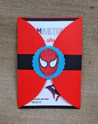Spiderman Invitacion De Cumpleanos Tienda Las Chuches De