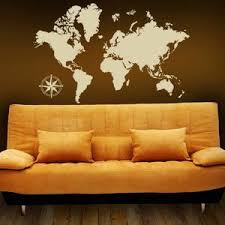 Map Wall Decal World Map Wall Sticker Wall Map Of The World Style And Apply