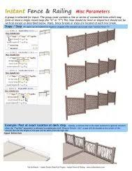 Instant Fence Railing General Settings Vali Architects