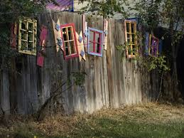 Windows In A Fence Garden Fence Art Fence Art Decorative Garden Fencing
