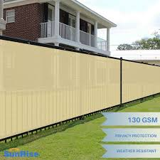 Customize 6 Ft Tall Beige Privacy Screen Fence Windscreen Mesh Shade Cover Ebay
