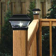 Noma Solar Post Lights Waterproof Outdoor Cap Lights For 4 X 4 Wooden Deck Patio Garden Decor Or Fence Warm White Led Lights 8 Pack Black Amazon Ca Electronics