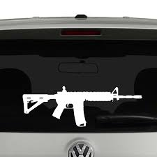 Ar15 Rifle Silhouette Vinyl Decal Sticker Car Window