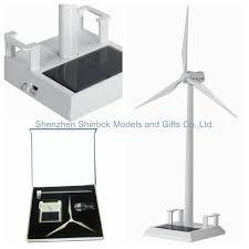 metal sloar wind turbine model with