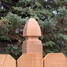 Mr Spindle 4 X 4 Cedar French Gothic Finial At Menards
