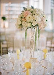 tall glass vase for wedding centerpiece