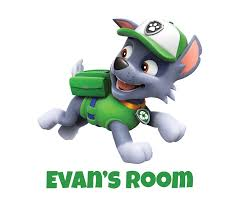 Personalised Paw Patrol Any Name Wall Decal 3d Art Stickers Vinyl Room Bedroom 9 Ebay