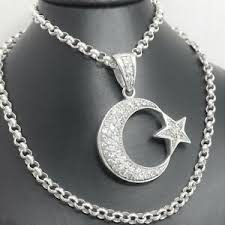 men s sterling silver crescent moon