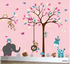 Girls Wall Decals Owl Decal Tree Girl Room Decor Playroom Etsy