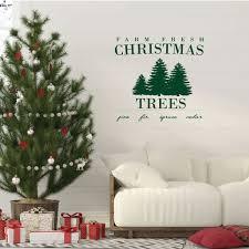 Farm Fresh Pine Tree Lettering Christmas Vinyl Decor Wall Decal Customvinyldecor Com