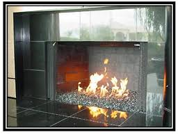 cool fireplace glass rocks daringroom