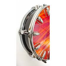 Wrought Studio Snare Drum Art Glass 13 5 Wall Clock Wayfair