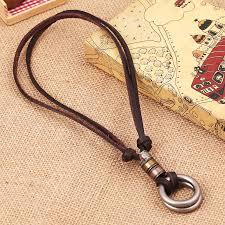 men leather necklaces retro pendants