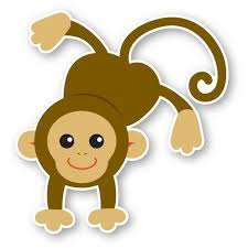 Walls 360 Peel Stick Wall Decal Mia Monkey 11 5 In X 12 In Walmart Com Walmart Com