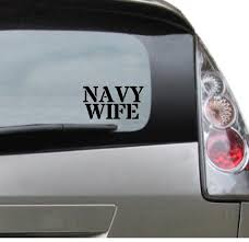 Navy Wife Vinyl Car Decal Popular Military Soldier Etsy