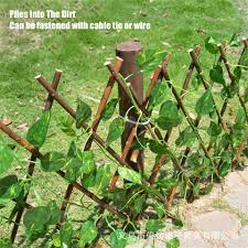 1pc 40cm Artificial Plant Telescopic Fence Home Garden Decoration Wooden Fence Balcony Fence Holiday Party Decoration Green Vine Artificial Plants Aliexpress