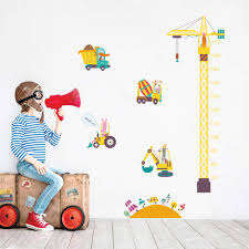 Wall Decor Baby Decalmile Construction Transportation Wall Decals Car Truck Plane Boys Wall Stickers Kids Bedroom Baby Nursery Playroom Wall Decor