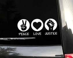 Peace Love Decal Etsy
