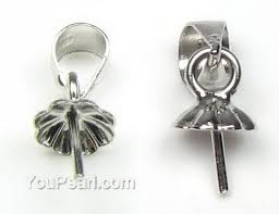 pendant bail 5mm cup with peg