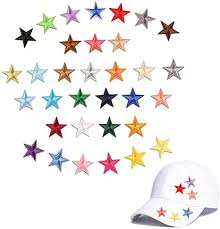 Amazon Com Mini Star Patches Iron On Appliques Sew On Badge Embroidered Logos With Mix Colorful Little Five Star Decals Decoration Diy For Bags Shoes Hats Clothes 33 Pcs Little Star