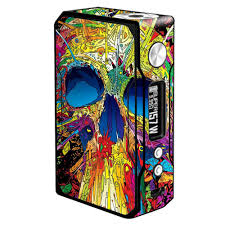 Skin Decal Vinyl Wrap For Voopoo Drag 157w Tc Resin Reg Vape Mod Stickers Skins Cover Colorful Skull 1 Want Addition Colorful Skulls Vape Mods Vinyl Wrap