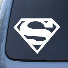 Amazon Com Superman Large Super Man Vinyl Car Decal Sticker 1835 Vinyl Color White Automotive