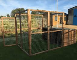 Dog Run 6 Mesh Panels Plus Door And Shelter Wire Shop Ireland