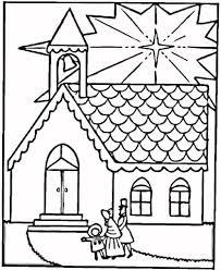 Gezin Op Weg Naar Kerk Voor Kerst Kleurplaat Gratis Kleurplaten