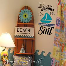 Let Your Dreams Set Sail Vinyl Wall Decals Window Lettering Beach Inspired