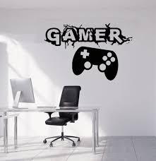 Gamer Wall Decal Video Games Wall Sticker Controller Wall Etsy In 2020 Wall Sticker Wall Decals Disney Wall Decals