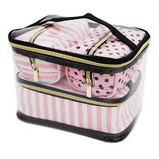 pin up style transpa cosmetic bag